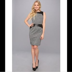 NWT Calvin Klein Dress with Faux Leather Accents 4
